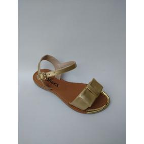 Sandalias Doradas Para Niña Todas Las Tallas 21 A 33 De Moda