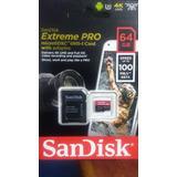 Memoria Micro Sd Sandisk Extreme Pro 4k U3 64 Gb 95 Mb/s