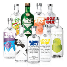 Kit Vodka Absolut Collection Completo