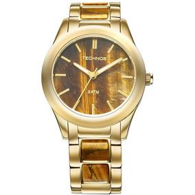 Relógio Technos Analóg. Stone Dourado Original 2033ad/4m Ibi