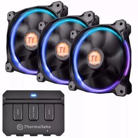 Cooler Fan Thermaltake Gamer Pc Riing 12 Led X 3 Rgb 120mm