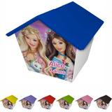 Casinha Cofre Personalizada Barbie 30 Unid Cod 16
