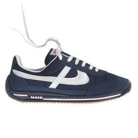 Tenis Casual Panam 0084 Azul Marino Textil Dama Udt