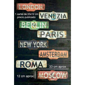 Carteles De Ciudades Vintage New York Paris London Berlin
