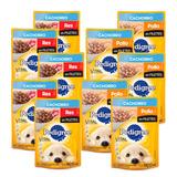 Kit Alimento Pedigree Perro Cachorro Sobres Sabor Pollo/res