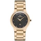 Relógio Technos Feminino Dourado Fundo Preto 1l22wi/4p
