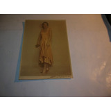 Antigua Foto Firmada Dama Epoca Vestido Raso Peinado Collar