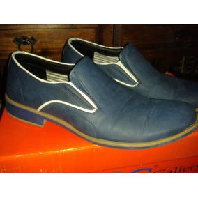 Zapatos Casuales Para Caballero Color Azul