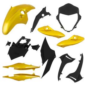Kit Plástico Carenagem Cb 300r 12 / 13 - 9 Peças - Amarelo