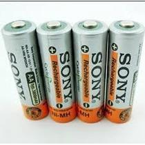 4 Pilha Sony Aa Recarregável 4600mah 1,2v Nimh Bateria 2500