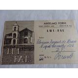 Cartão Radio Amador Anselmo Forni-lu 1 Fal