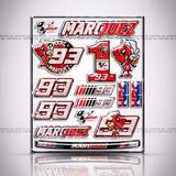 Cartela 15 Adesivos Marc Marquez Smartphone Tablet