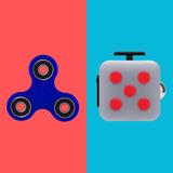Combo Fidget Cube + Spinner Originales Espiner Cubo Juguete