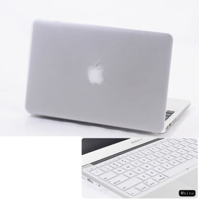 2 En 1 Funda Dura Mate + Teclado De Piel Para Apple Macbook