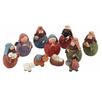 Nacimiento Juego Figuras Navideñas 11 Piezas 15cm Aprox