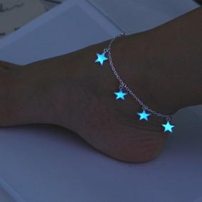 Linda Pulsera Brazalete Tobillera Estrellas Brilla Oscuridad