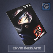 Cartão Pointblank De 20.000 Pb 20k Cash - Point Blank