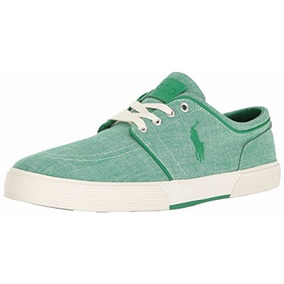 Tenis Polo Lauren Faxon Low Sneaker Verdev 7 Us