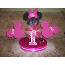 Chupetera De Minnie Mouse. Disco 33cm Alto 43cm Ancho 63cm