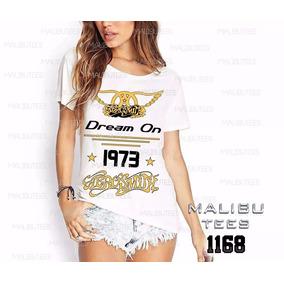 Camiseta T-shirt Aerosmith Rock Feminino Blusa