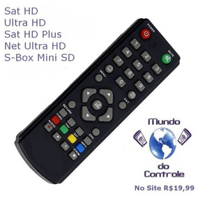 Controle Remoto Sat Hd Plus Aiwa M.do Controle