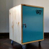 Locker En Madera Y Chapa, Diseño Estilo Escandinavo