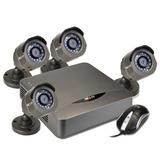 Kit Seguridad 4 Cámaras Hd Dvr 4 Canales Disco 1tb Completo
