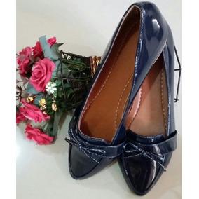 0091335f02 Mocassins Feminino Em Verniz - Sapatos Azul no Mercado Livre Brasil