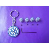Llavero Volkswagen Tapones Valvula Llanta Emblema Kit Vw