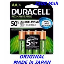 Pilha Recarregavel Duracell C/4 1,2v Aa 2500 Mah Long Life