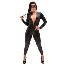 Fantasia Mulher Gato Macacão Sexy Sensual Pronta Entrega