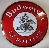 Budweiser In Bottles Boton Gd Anuncio Lamina Poster Letrero