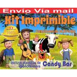 Kit Imprimible Canciones De La Granja 3 Tarjetas Invitacione