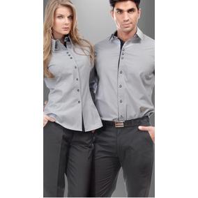 Camisa Para Uniforme Para Dama Y Caballero En Algodón Egipto