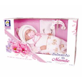 Boneca Bebezinho Da Mamãe Deitado - Cotiplás 2091