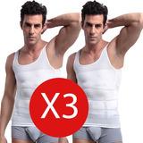Camiseta Faja Reductora Modeladora Hombre Reduce Pack 3x1