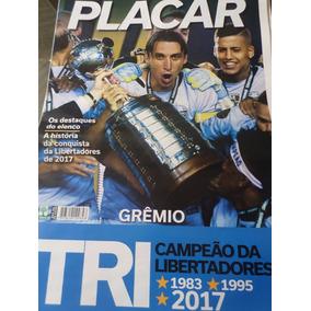 Poster Grêmio Tri Campeão Taça Libertadores 2017 Placar