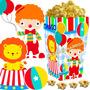 Kit Imprimible Payasos Circo Candy Bar Y Cotillon Cumple 2x1