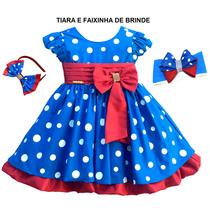Vestido Poa Festa Galinha Pintadinha Com Tiara E Faixa