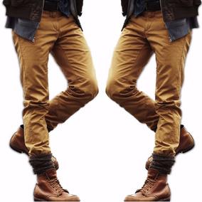 Calça Sarja Masculina Slim Fit Lycra Skinny Varias Cores