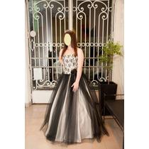 Vestido 15 Años Largo Con Corset Divino (tiene Falda Corta)