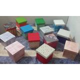 Set X23 Cajas De Fibrofacil Pintadas - Varios Modelos