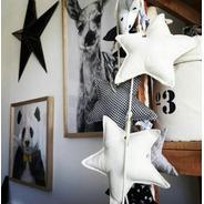 Estrellas De Tela Souvenir  Guirnalda