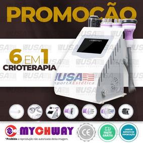 6 Em 1 Llipocavitação Radiofrequência Vacuo + Crioterapia