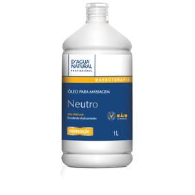 Óleo Para Massagem Neutro Sem Perfume 1l Dagua Natural
