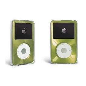 Green Apple Ipod Classic Estuche Duro Con Revestimiento De