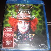 Alicia En El Pais De Las Maravillas En Blu-ray + 2 Dvd