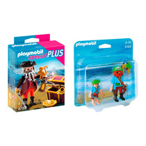 Playmobil Combo Piratas Cofre Tesoro 4783 + Duo Pack 5164