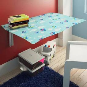 Mesa De Estudo Dobrável Infantil Kids Avião Com 01 Cadeira