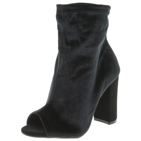 Bota Feminina Ankle Boot Preta/nobuck Via Marte - 173401